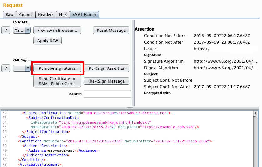 Bypassing SAML 2 0 SSO with XML Signature Attacks • Aura